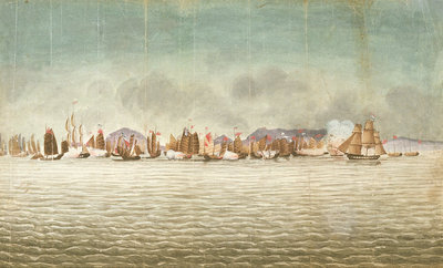 'Chinese War. 'Volage' & 'Hyacinth'?, 3 November 1839 by Millar - print