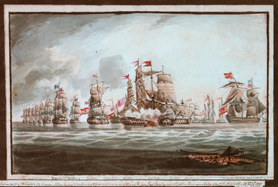Battle of St Vincent, 1797 by unknown - print