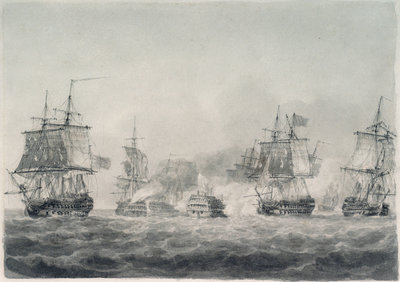 Battle of Camperdown, 11 October 1797 by Nicholas Pocock - print