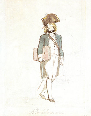 Midshipman by Thomas Rowlandson - print