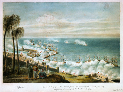 Bombardment of Algiers, 1816 by William Innes Pocock - print