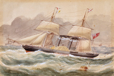 'La Plata', Royal Mail steamer, 1852 by unknown - print