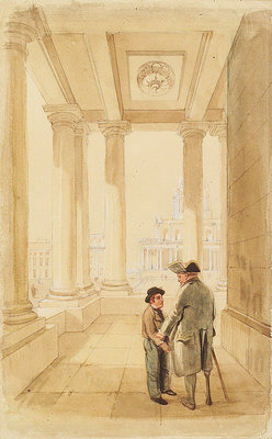 Jack and his father under the Colonnade by Clarkson Stanfield - print