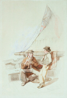 Bramble and Jack carried into a French port by Clarkson Stanfield - print