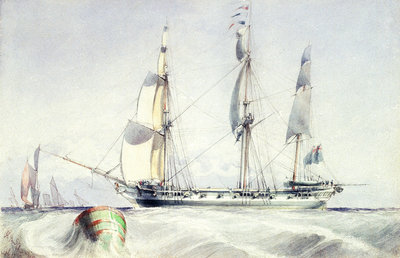 HMS 'Champion' by Calvert Richard Jones - print