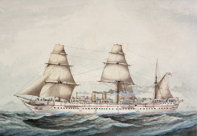 Troopship 'Orontes' (1862) by unknown - print