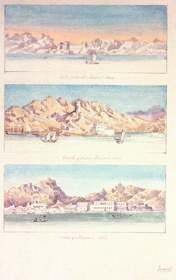 Three watercolours of Muscat by Charles Hamilton Smith - print