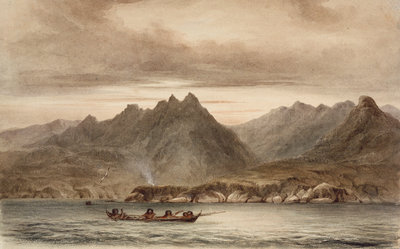North east side of Wollaston Island near Cape Horn by Conrad Martens - print
