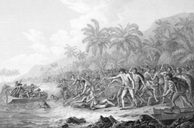 Death of Captain Cook Wall Art & Canvas Prints by John Webber