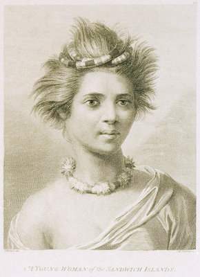 A young woman of the Sandwich Islands Fine Art Print by John Webber