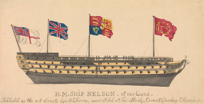 HMS 'Nelson' of 120 Guns by unknown - print