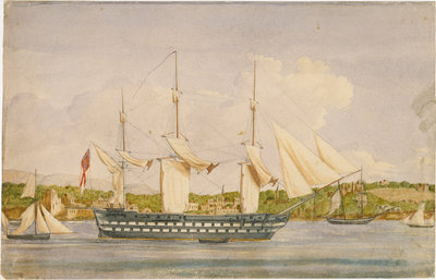 HMS 'Cambridge', Beyrout by unknown - print