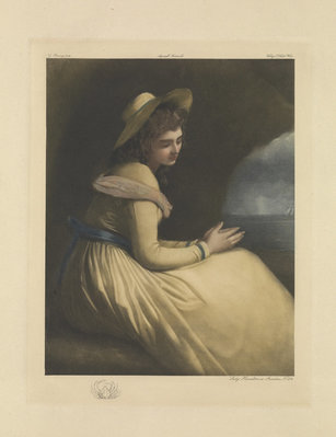 Lady Emma Hamilton as Ariadne by George Romney - print
