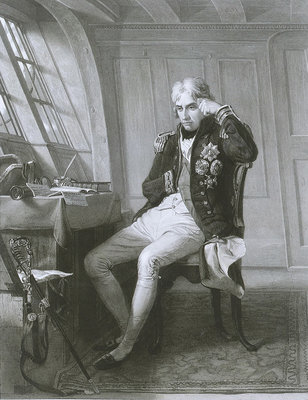 Nelson. Trafalgar 21 October 1805 by Charles Lucy - print