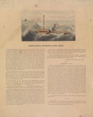Commander Beadon's Life Buoy (Lifeboats 11) by unknown - print