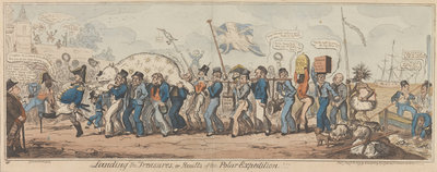 Landing the Treasures, or Results of the Polar Expedition!!! by George Cruikshank - print