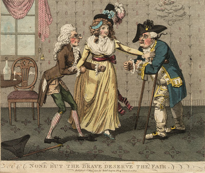 None but the Brave Deserve the Fair by Isaac Cruikshank - print