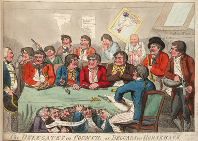 The Delegates in Council or Beggars on Horseback by Isaac Cruikshank - print