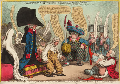Lilliputian - Substitutes, Equiping for Public Service by James Gillray - print