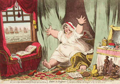Dido in Despair by James Gillray - print