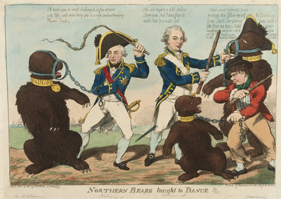 Northern Bears taught to Dance by S.W. Fores - print