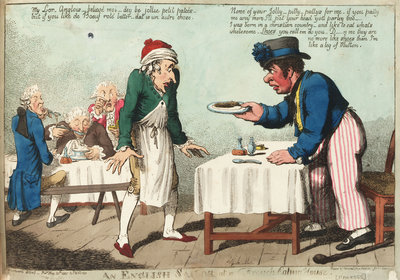 An English Sailor at a French Eating House by George M. Woodward - print