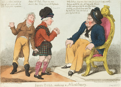 John Bull, making a Naval Enquiry by S.W. Fores - print