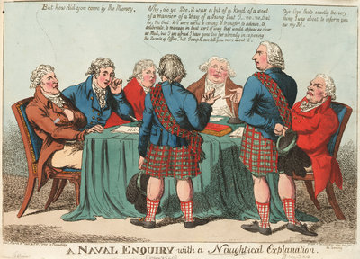 A Naval Enquiry with a Naught-ical Explanation (Dundas) by S.W. Fores - print