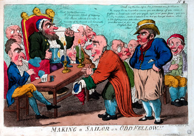 Making a Sailor an Odd Fellow! by George M. Woodward - print