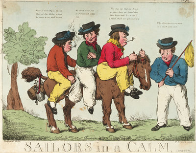 Sailors in a calm by George M. Woodward - print