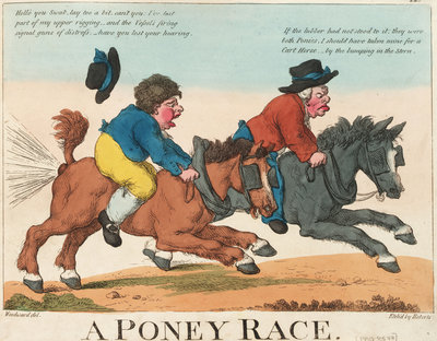 A Poney Race by George M. Woodward - print