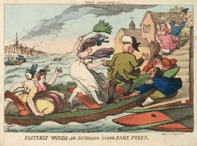 Tegg's Caricatures No.2. Easterly Winds, or Scudding Under Bare Poles by Thomas Rowlandson - print