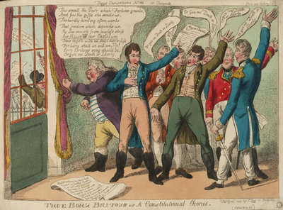 Tegg's Caricatures No.10. True Born Britons or Constitutional Chorus by Thomas Tegg - print