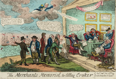The Merchants Memorial to Alley Croker by George Cruikshank - print