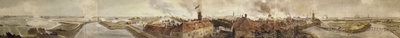 Panoramic view of bombardment of Flushing during Walcheren's expedition, 1809 by unknown - print