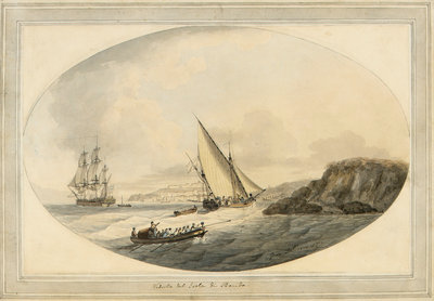View of the island of Procida by John Thomas Serres - print