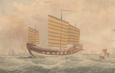 Chinese Junk Keying by unknown - print