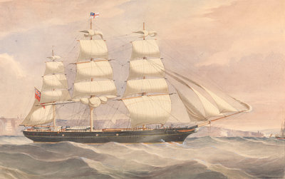 'Silver Eagle' (1861) clipper ship by unknown - print