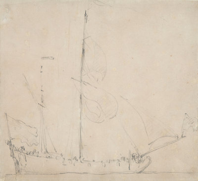 A ketch before the wind by Willem Van de Velde the Younger - print