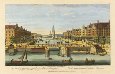 A view of Amsterdam taken from the Old Rampart by Robert Laurie & James Whittle - print