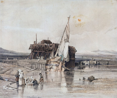 Fort Rouge, Calais by Clarkson Stanfield - print