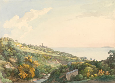 View west of Bastia, Corsica by unknown - print