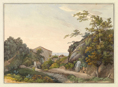 View of Bastia, Corsica by unknown - print