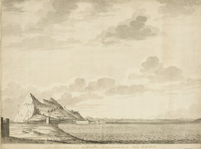 A view of Gibraltar from the north by unknown - print