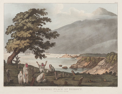 A burial place at Beirut by F.B. Spilsbury - print