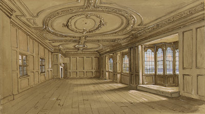 The drawing room of Crowley House, Greenwich by Clarkson Stanfield - print