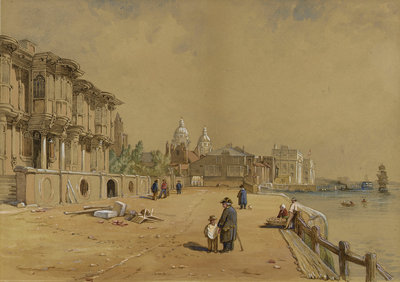 Crowley House, Greenwich, from the east by Clarkson Stanfield - print