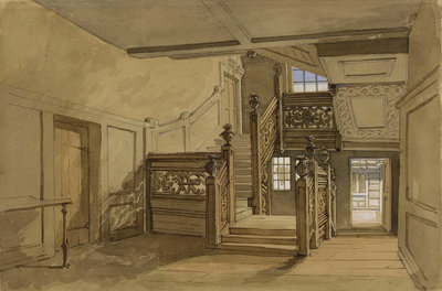 The staircase of Crowley House, Greenwich by Clarkson Stanfield - print