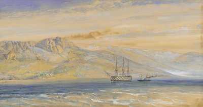 Prince Woronzoff's palace near Yalta on the south coast of the Crimea by William Simpson - print