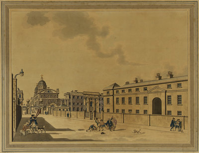 Greenwich Hospital from the West [with the Infirmary] by Charles White - print